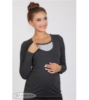 Лонгслив для беременных  и кормящих  Layma new