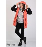 Куртка-парка для беременных Lex,  коралл+черный