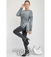 Свитшот   Туника Джемма, цвет - серый в полоску