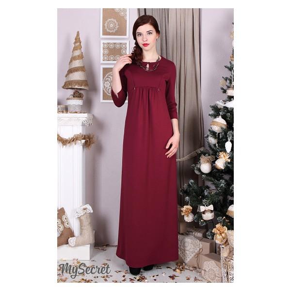 8b716b6a18ad Платье для беременных и кормящих Luchiya, марсала - Магазин 9+