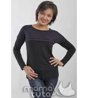 Лонгслив  для беременных  и  кормящих   Кэтрин, цвет -  черный
