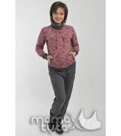 Спортивный костюм для беременных  и кормящих Виктори, красный закат