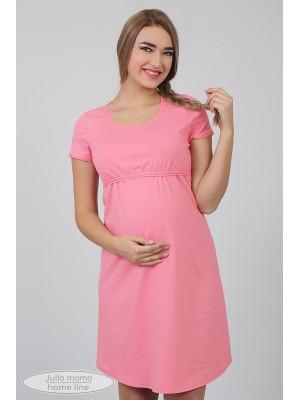 Ночная рубашка  Margaret, розовый в сер.горошек