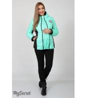 Демисезонная   куртка для беременных  Lemma,  мятный+черный
