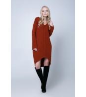 Платье вязаное, терракот