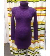 Вязаное платье,  фиолетовый