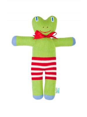 Вязаная ЭКО-игрушка Лягушка ТМ Фрея