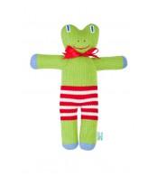 Вязаная ЭКО-игрушка Лягушка-Квакушка ТМ Фрея