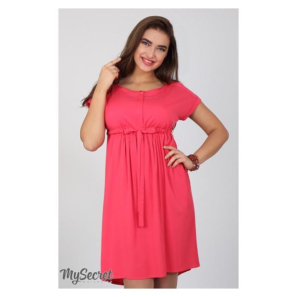 ae973af21c67 Платье для беременных и кормящих Rossa, теплый малиновый - Магазин 9+