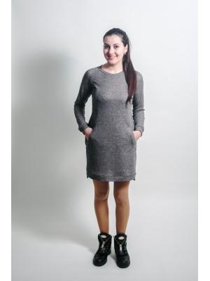 Повседневное платье - Тёмный меланж