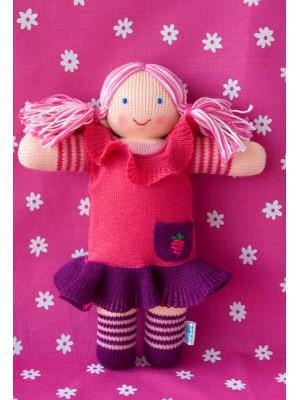 Вязаная ЭКО-игрушка кукла Малинка ТМ Фрея