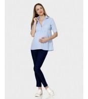 Хлопковая офисная блуза Prenatal