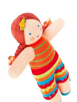 Вязаная ЭКО-игрушка кукла Мандаринка ТМ Фрея