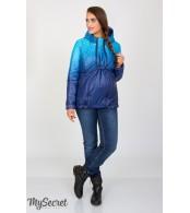 Демисезонная двухсторонняя куртка для беременных  Floyd, сине-аквамариновый купон + темно-синий