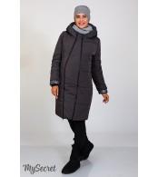 Зимнее пальто для беременных   Angie, графит