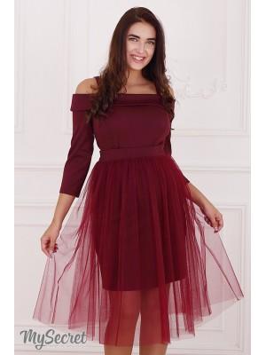 Платье  для беременных и кормящих Eleonor, бордовый