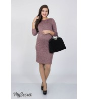 Платье  для беременных и кормящих   Annita light,розовый меланж