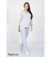 Трикотажные брюки  для беременных  Rihanna, серый меланж