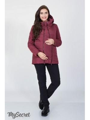Демисезонная   куртка для беременных Emma, бордо