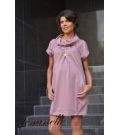 Платье-туника для беременных, фрезовый