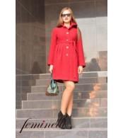 Пальто  для беременных, красный