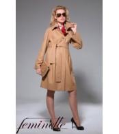 Пальто  для беременных светло-коричневое