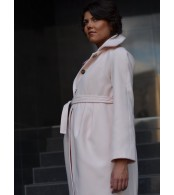 Пальто  для беременных светло-розовое
