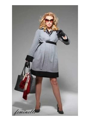 Пальто  для беременных  серый с черным