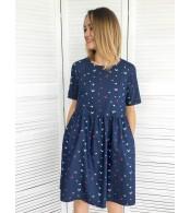 Джинсовое платье для беременных и кормящих