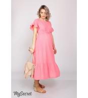 Платье  для беременных и кормящих  Zanzibar, яркий розовый