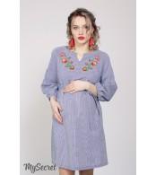 Платье  для беременных и кормящих Lada, клетка сине-белая