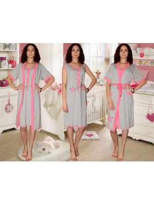 31f157e29e3b Комплект с принтом для кормления Crazy Secret  ночная сорочка и халат