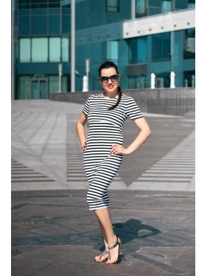 Платье в полоску для беременных и кормящих