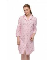 Ночная рубашка для беременных и кормящих Zephyr, розовый со звездами