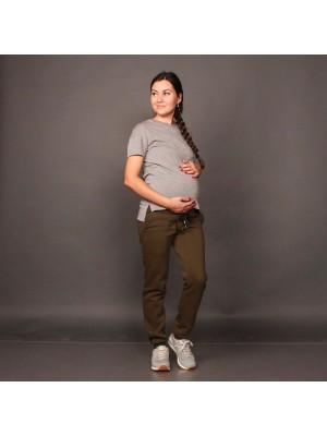 Штаны для беременных на флисе,  хаки
