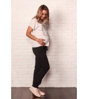 Штаны для беременных на флисе, черный