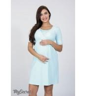 Ночная сорочка для беременных и кормящих мам  Jasmin, бледно-голубой
