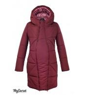 Зимнее пальто для беременных   Angie, бордо