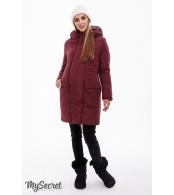 Зимнее пальто для беременных   Angie, марсала