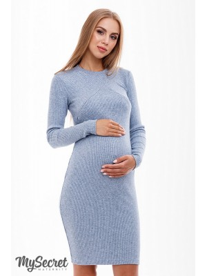 Платье  для беременных и кормящих Marika, джинсовый синий