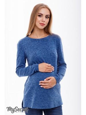 Туника для беременных  и кормящих Kim, джинсово-синий меланж