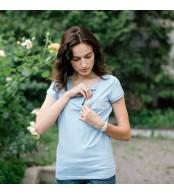 Футболка для беременных и кормящих - Голубая