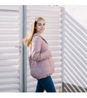 Демисезонная слингокуртка 3 в 1 - Розовая
