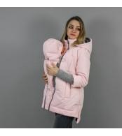Демисезонная слингокуртка 3 в 1 - Розовый