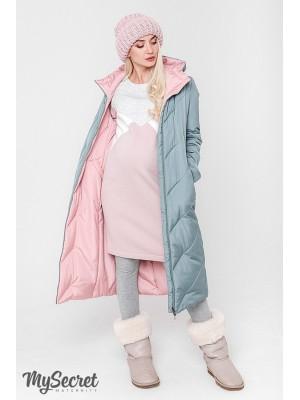 Зимнее пальто для беременных   Tokyo, оливка и пудра