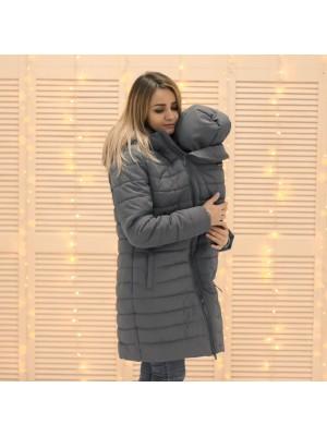 Зимняя слингокуртка 3 в 1 - Серый