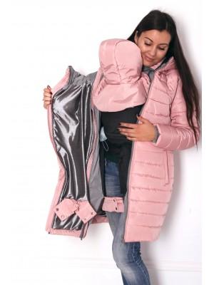 Зимняя слингокуртка 3 в 1 - Пудровый