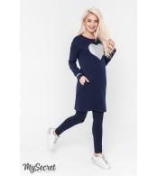 Платье  для беременных и кормящих Milano warm, синий