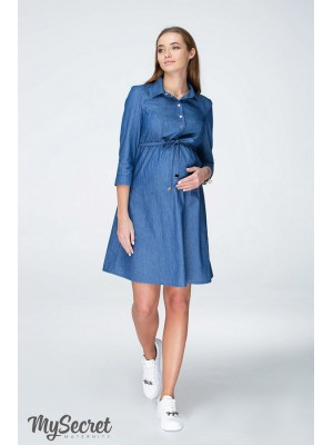 Платье  для беременных и кормящих Lexie, джинсово-синий