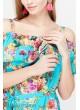 Блузка Brenda для беременных и кормящих, аквамариновый